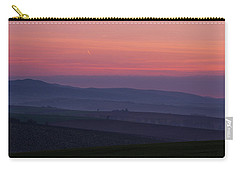 Carry-all Pouch featuring the photograph Sunrise Over Hills Of Moravian Tuscany by Jenny Rainbow