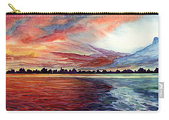 Sunrise Over Indian Lake Carry-all Pouch by Nancy Cupp
