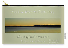 Sunrise Over Malletts Bay Greeting Card And Poster - Six V4 Carry-all Pouch by Felipe Adan Lerma