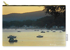 Sunrise Over Malletts Bay Panorama - Nine V2 Detail Carry-all Pouch by Felipe Adan Lerma