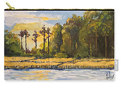 Carry-all Pouch featuring the painting Sunrise Over Queens Creek by Jim Phillips