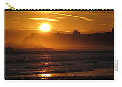Carry-all Pouch featuring the photograph Sunrise Over Sandsend Beach by RKAB Works