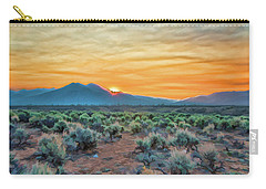 Sunrise Over Taos Carry-all Pouch