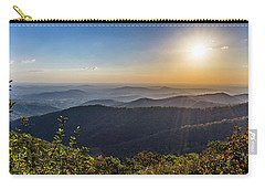 Carry-all Pouch featuring the photograph Sunrise Over The Misty Mountains by Lori Coleman
