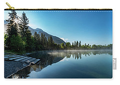 Carry-all Pouch featuring the photograph Sunrise Over The Mountain And Through The Tree by Darcy Michaelchuk