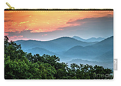 Carry-all Pouch featuring the photograph Sunrise Over The Smoky's by Douglas Stucky