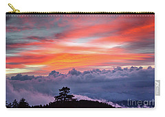 Carry-all Pouch featuring the photograph Sunrise Over The Smoky's II by Douglas Stucky