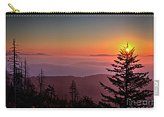 Carry-all Pouch featuring the photograph Sunrise Over The Smoky's IIi by Douglas Stucky