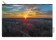 Sunrise Over The Woods Carry-all Pouch