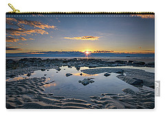 Carry-all Pouch featuring the photograph Sunrise Over Wells Beach by Rick Berk