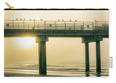 Carry-all Pouch featuring the photograph Sunrise Pier In Alabama  by John McGraw