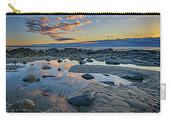Carry-all Pouch featuring the photograph Sunrise Reflections On Wells Beach by Rick Berk