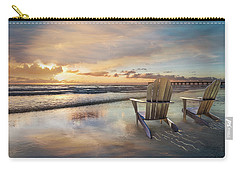 Carry-all Pouch featuring the photograph Sunrise Romance by Debra and Dave Vanderlaan