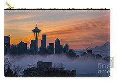 Sunrise Seattle Skyline Above The Fog Carry-all Pouch
