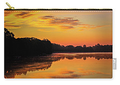Sunrise Silhouettes - Lake Landscape Carry-all Pouch by Barry Jones