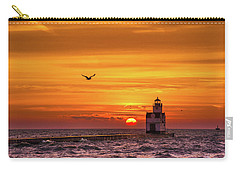 Carry-all Pouch featuring the photograph Sunrise Solo by Bill Pevlor