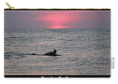 Sunrise Surfing Carry-all Pouch by Robert Banach