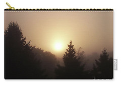 Sunrise Through Morning Fog Carry-all Pouch by Phil Perkins