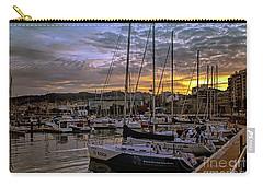 Sunrise Vigo Harbour Galacia Spain Carry-all Pouch by Lynn Bolt