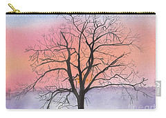 Sunrise Walnut Tree 2 Watercolor Painting Carry-all Pouch