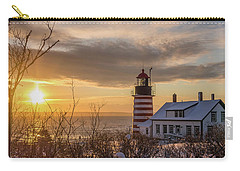 Sunrise West Quoddy Lighthouse Carry-all Pouch by Trace Kittrell