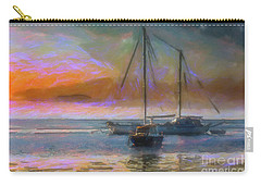 Sunrise With Boats Carry-all Pouch