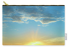 Sunrise With Flare Carry-all Pouch by David Stasiak