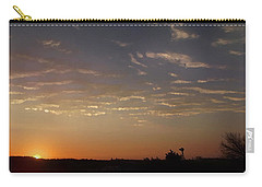 Sunrise With Windmill Carry-all Pouch