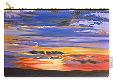 Carry-all Pouch featuring the painting Sunset #5 by Donna Blossom