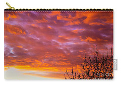 Carry-all Pouch featuring the photograph Sunset 7 by Jean Bernard Roussilhe