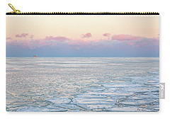 Sunset Across The Frozen Lake Carry-all Pouch