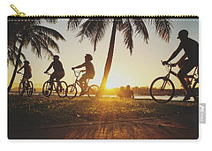 Carry-all Pouch featuring the photograph Sunset Adventures Along The River At Noosaville by Keiran Lusk