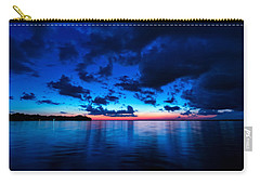 Carry-all Pouch featuring the photograph Sunset After Glow by Christopher Holmes