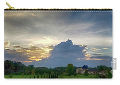 Carry-all Pouch featuring the photograph Sunset After The Storm by Ricky L Jones