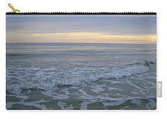 Sunset Along Oak Island Carry-all Pouch by Skyler Tipton