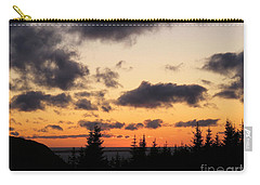 Sunset And Dark Clouds Carry-all Pouch by Barbara Griffin