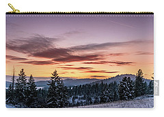 Sunset And Mountains Carry-all Pouch
