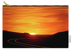 Sunset And Railroad Tracks Carry-all Pouch