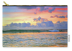 Carry-all Pouch featuring the photograph Sunset And Sea Foam by Tara Turner