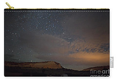 Carry-all Pouch featuring the photograph Sunset And Stars At White Pocket by Anne Rodkin