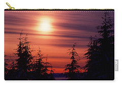 Sunset And Trees Two  Carry-all Pouch