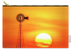 Carry-all Pouch featuring the photograph Sunset And Windmill 16 by Rob Graham