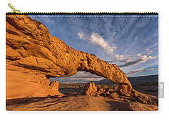 Carry-all Pouch featuring the photograph Sunset Arch by Dustin LeFevre