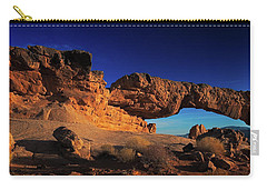 Carry-all Pouch featuring the photograph Sunset Arch Pano by Edgars Erglis