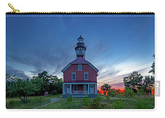 Sunset At Au Sable Point Lighthouse Carry-all Pouch
