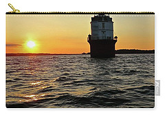 Carry-all Pouch featuring the photograph Sunset At Baltimore Light  by Nancy Patterson