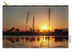 Sunset At Gator Hole 3 Carry-all Pouch by Arthur Dodd
