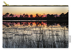Sunset At Gator Hole Carry-all Pouch by Arthur Dodd