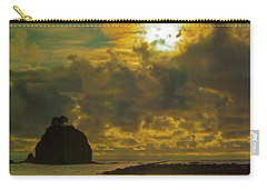 Carry-all Pouch featuring the photograph Sunset At Jones Island by Dale Stillman