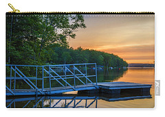 Sunset At Kearney Lake Carry-all Pouch by Ken Morris